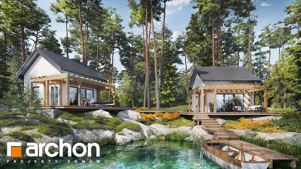 Проект будинку ARCHON+ Літній будинок в крокусах 4 (А) додаткова візуалізація