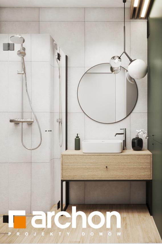 Проект будинку ARCHON+ Літній будинок в крокусах 4 (А) візуалізація ванни (візуалізація 3 від 3)