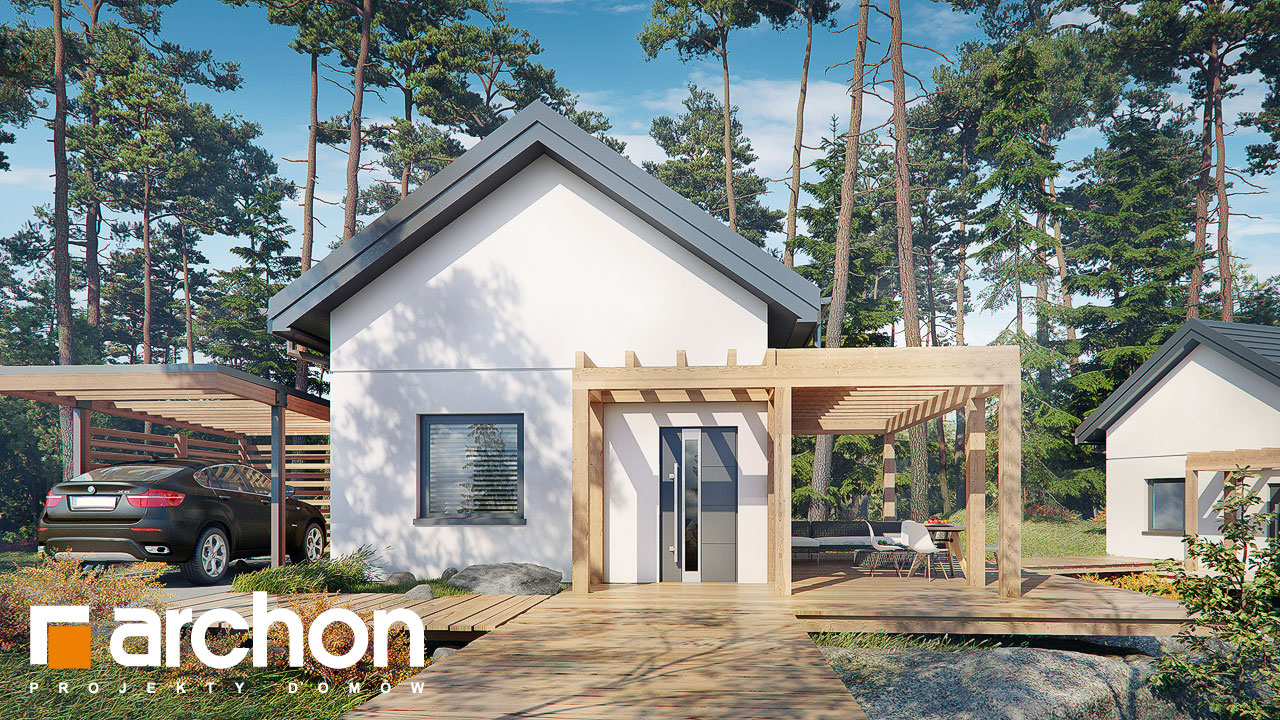 Проект будинку ARCHON+ Літній будинок в крокусах 4 (А) Вид 2