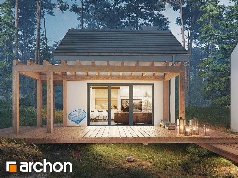 Проект будинку ARCHON+ Літній будинок в крокусах 4 (А) Вид 1
