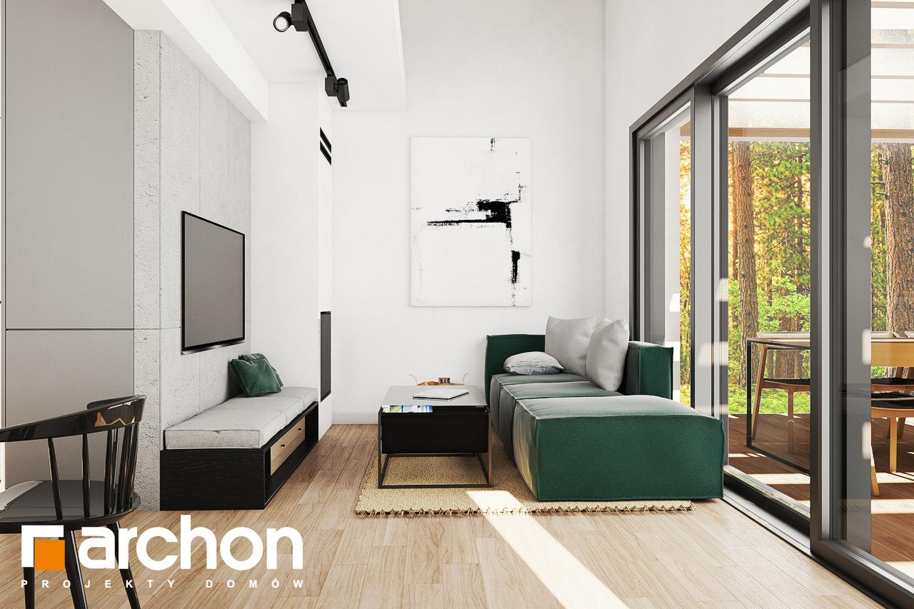 Проект будинку ARCHON+ Літній будинок в крокусах 4 (А) денна зона (візуалізація 1 від 1)