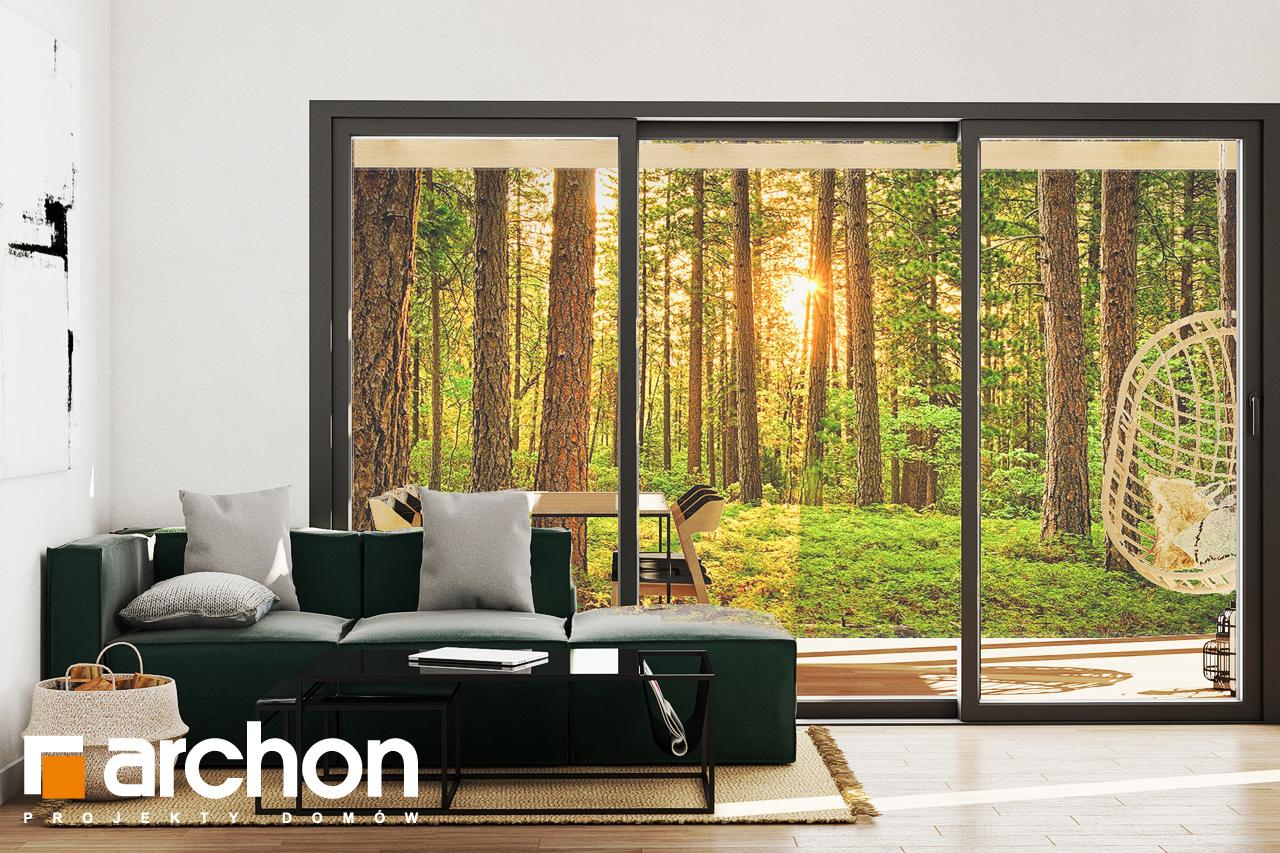 Проект будинку ARCHON+ Літній будинок в крокусах 4 (А) денна зона (візуалізація 1 від 4)