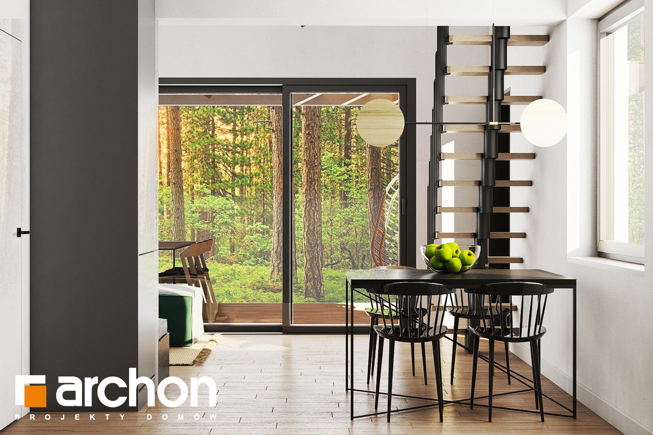 Проект будинку ARCHON+ Літній будинок в крокусах 4 (А) денна зона (візуалізація 1 від 6)