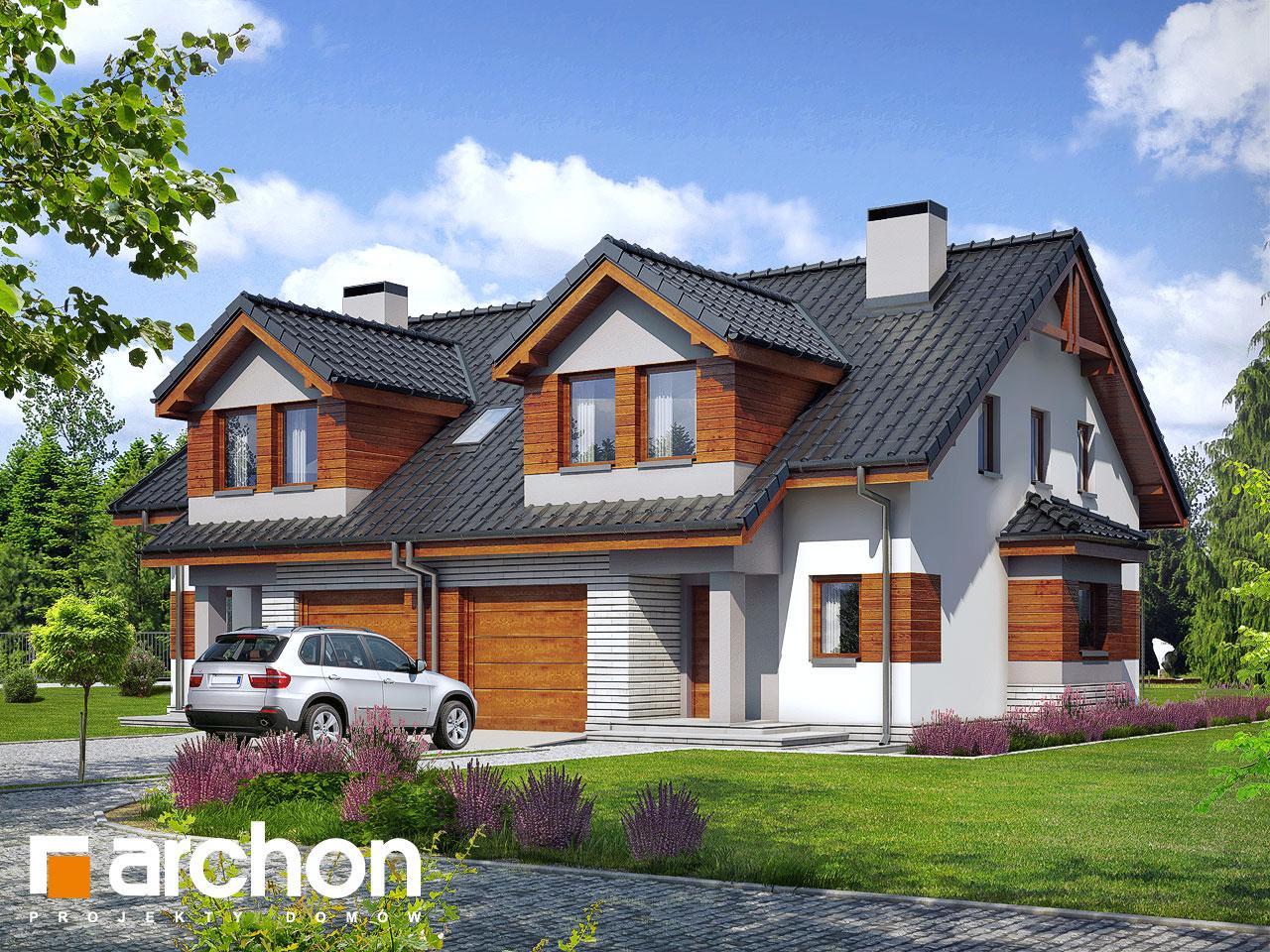 Проект будинку ARCHON+ Будинок в клематисах 9 (БТ) вер.2 візуалізація усіх сегментів