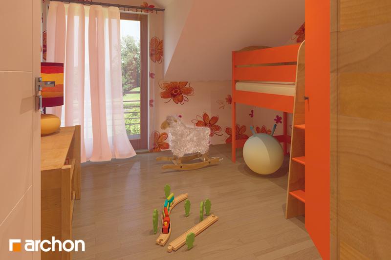 Проект будинку ARCHON+ Будинок в клематисах 9 (БТ) вер.2 нічна зона (візуалізація 1 від 1)