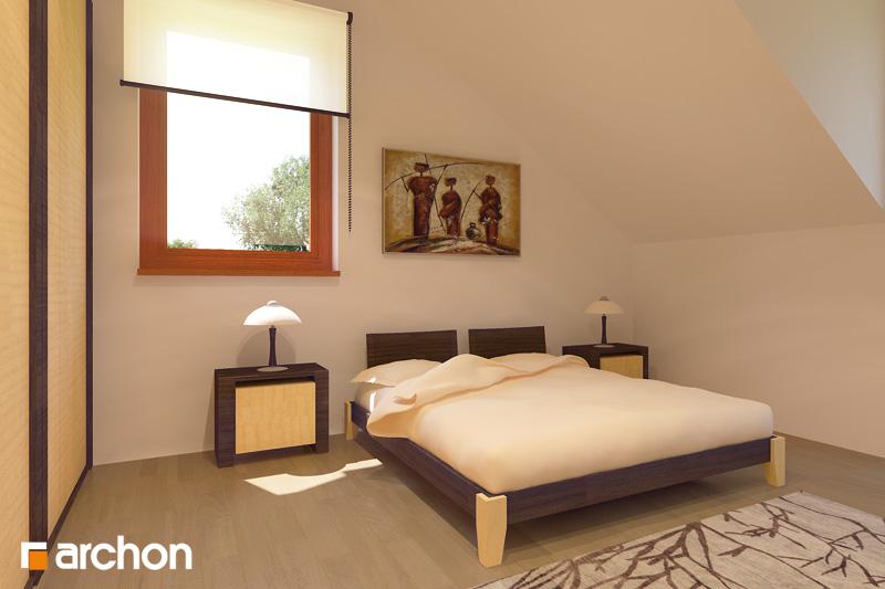 Проект будинку ARCHON+ Будинок в клематисах 9 (БТ) вер.2 нічна зона (візуалізація 1 від 2)