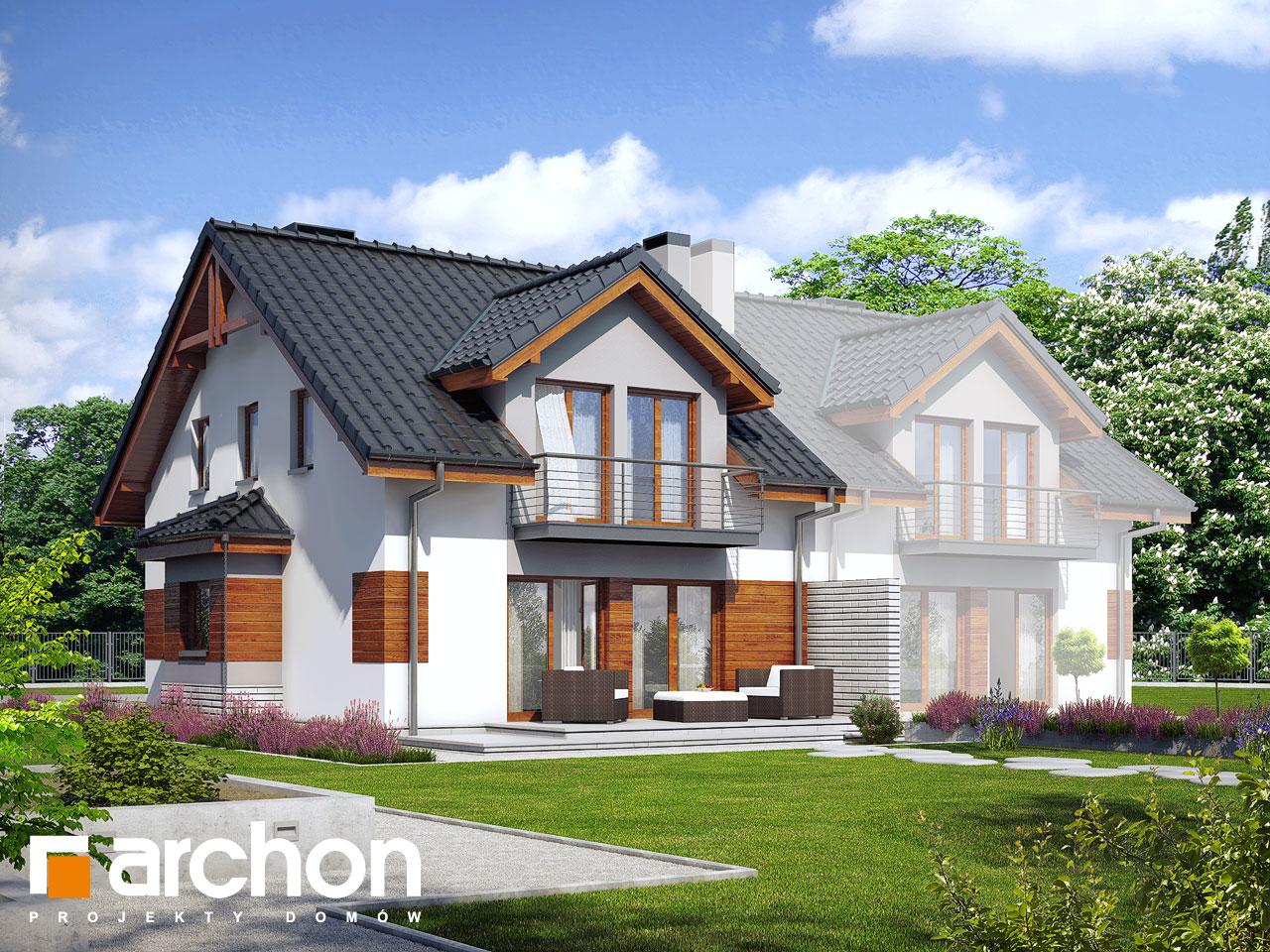 Проект будинку ARCHON+ Будинок в клематисах 9 (БТ) вер.2 Вид 2