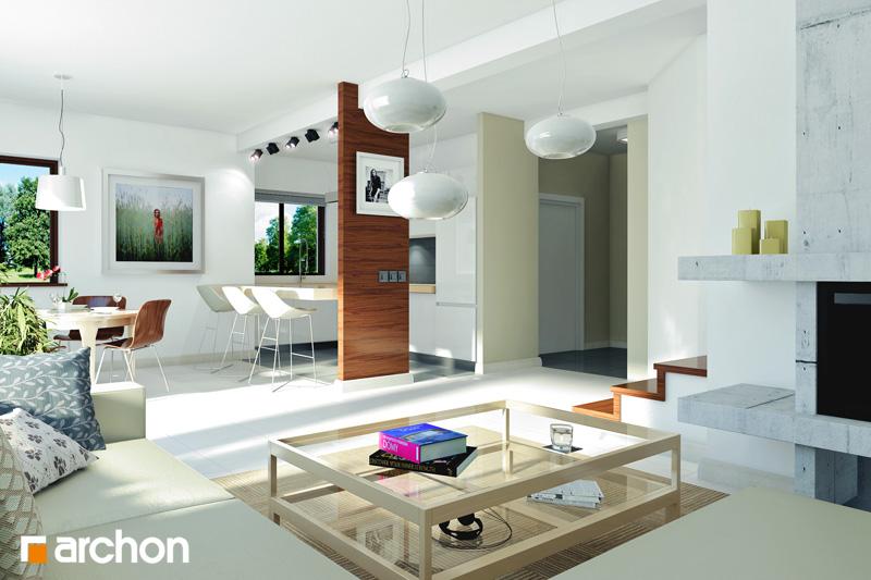 Проект будинку ARCHON+ Будинок в клематисах 9 (БТ) вер.2 денна зона (візуалізація 1 від 1)