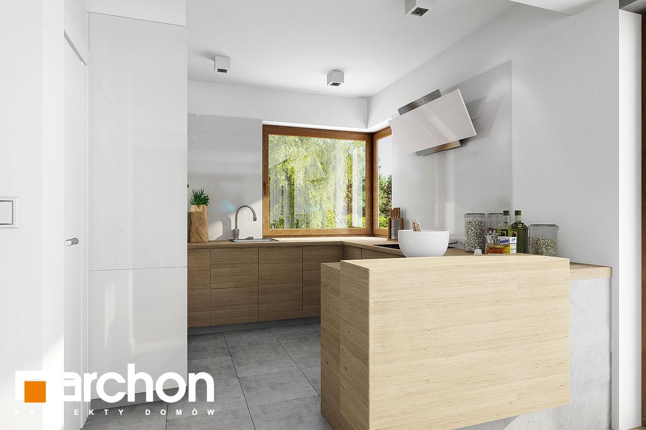 Проект дома ARCHON+ Дом в журавках 5 визуализация кухни 1 вид 1