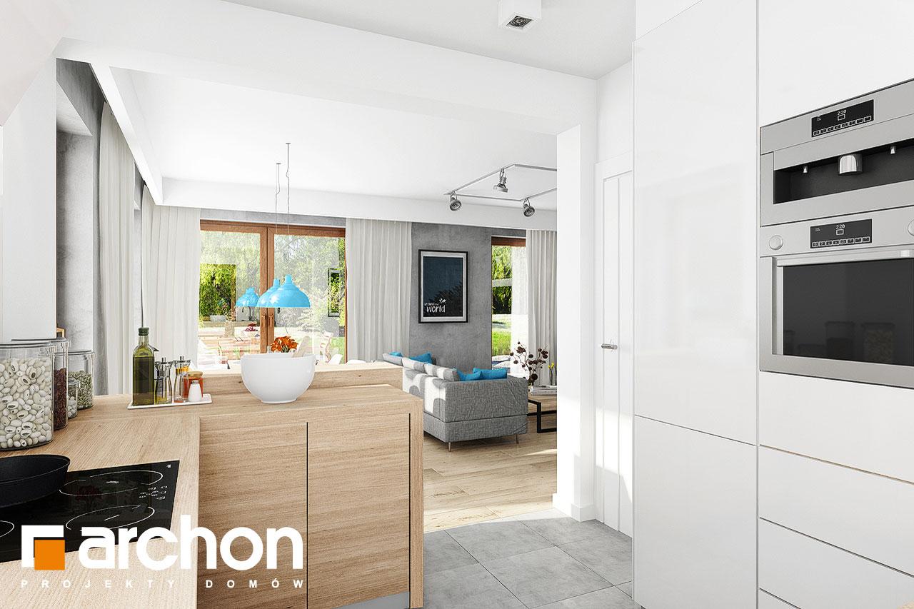 Проект дома ARCHON+ Дом в журавках 5 визуализация кухни 1 вид 2