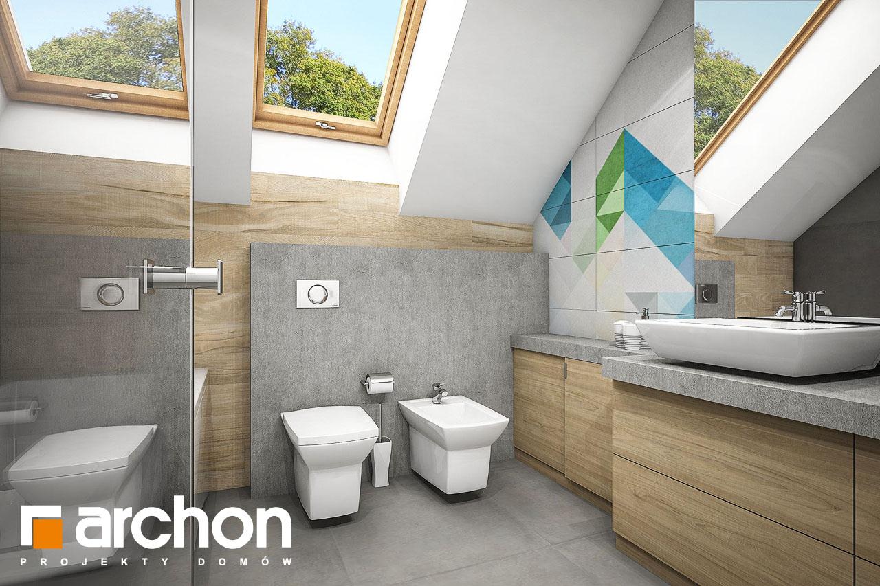 Проект будинку ARCHON+ Будинок в журавках 5 візуалізація ванни (візуалізація 3 від 1)