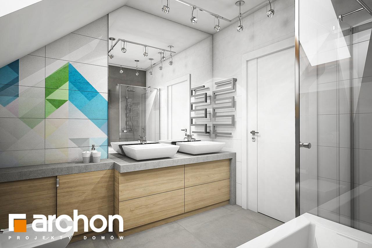 Проект будинку ARCHON+ Будинок в журавках 5 візуалізація ванни (візуалізація 3 від 2)