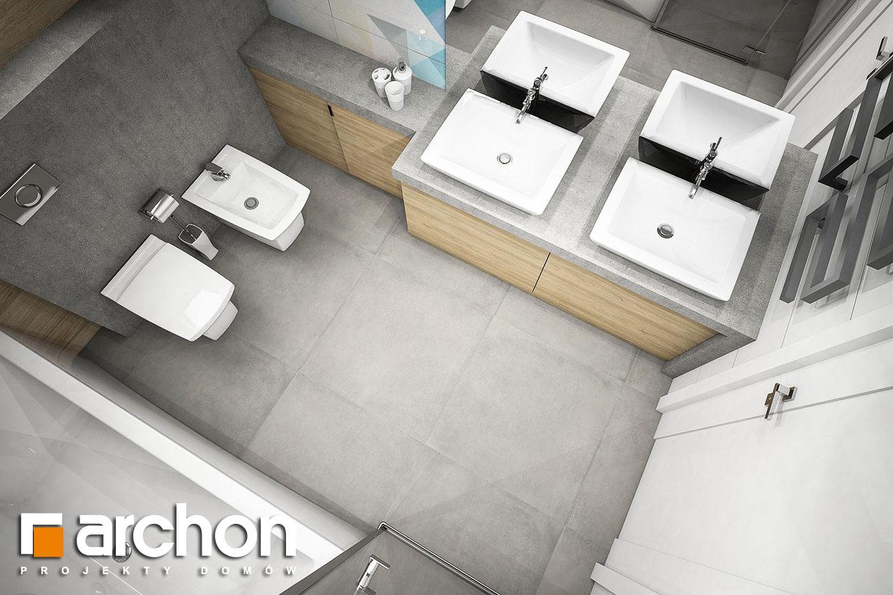 Проект будинку ARCHON+ Будинок в журавках 5 візуалізація ванни (візуалізація 3 від 4)