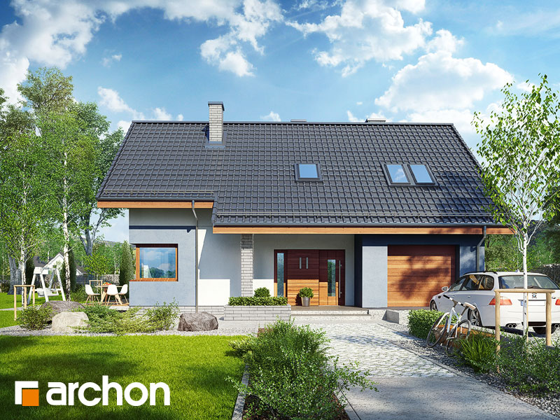 Проект будинку ARCHON+ Будинок в журавках 5 Вид 1