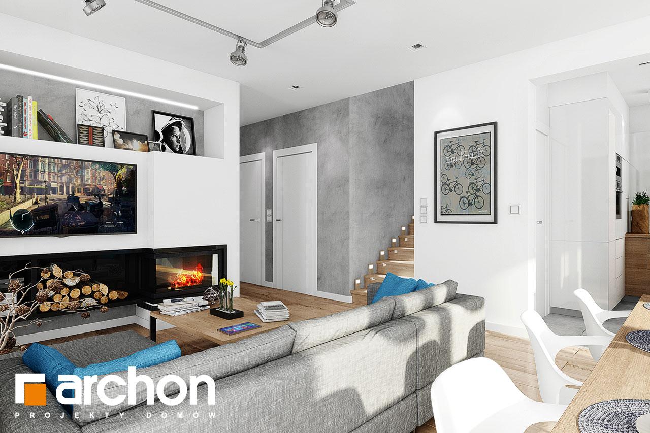 Проект дома ARCHON+ Дом в журавках 5 дневная зона (визуализация 1 вид 1)