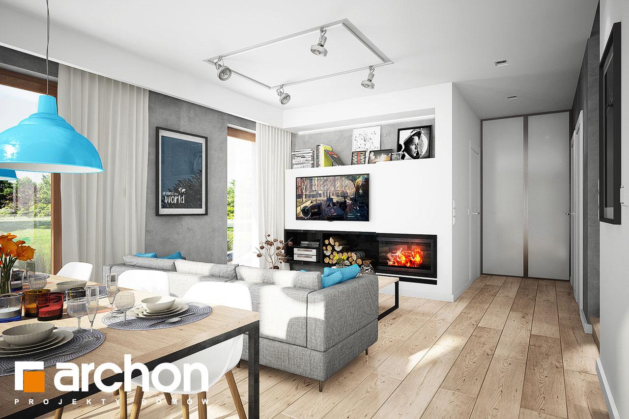 Проект дома ARCHON+ Дом в журавках 5 дневная зона (визуализация 1 вид 3)