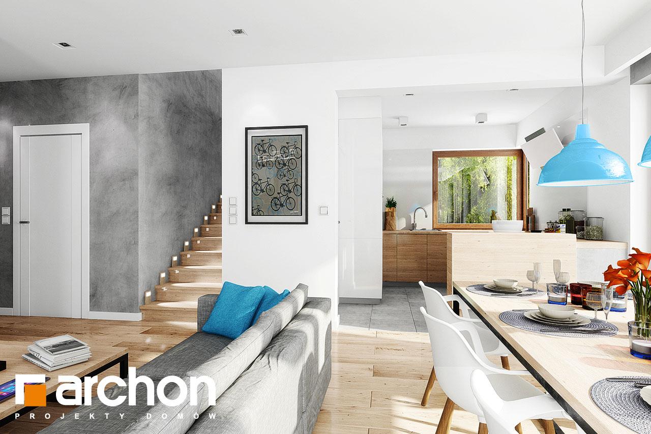 Проект дома ARCHON+ Дом в журавках 5 дневная зона (визуализация 1 вид 4)