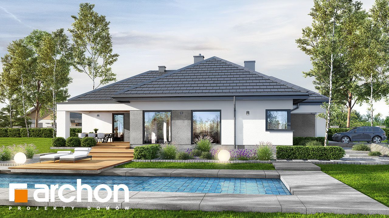 Проект будинку ARCHON+ Будинок в ренклодах 6 (Г2) Вид 2