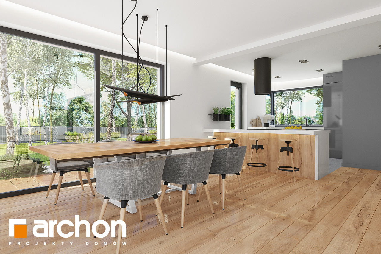 Проект будинку ARCHON+ Будинок в аурорах 7 (Г2) візуалізація кухні 1 від 2