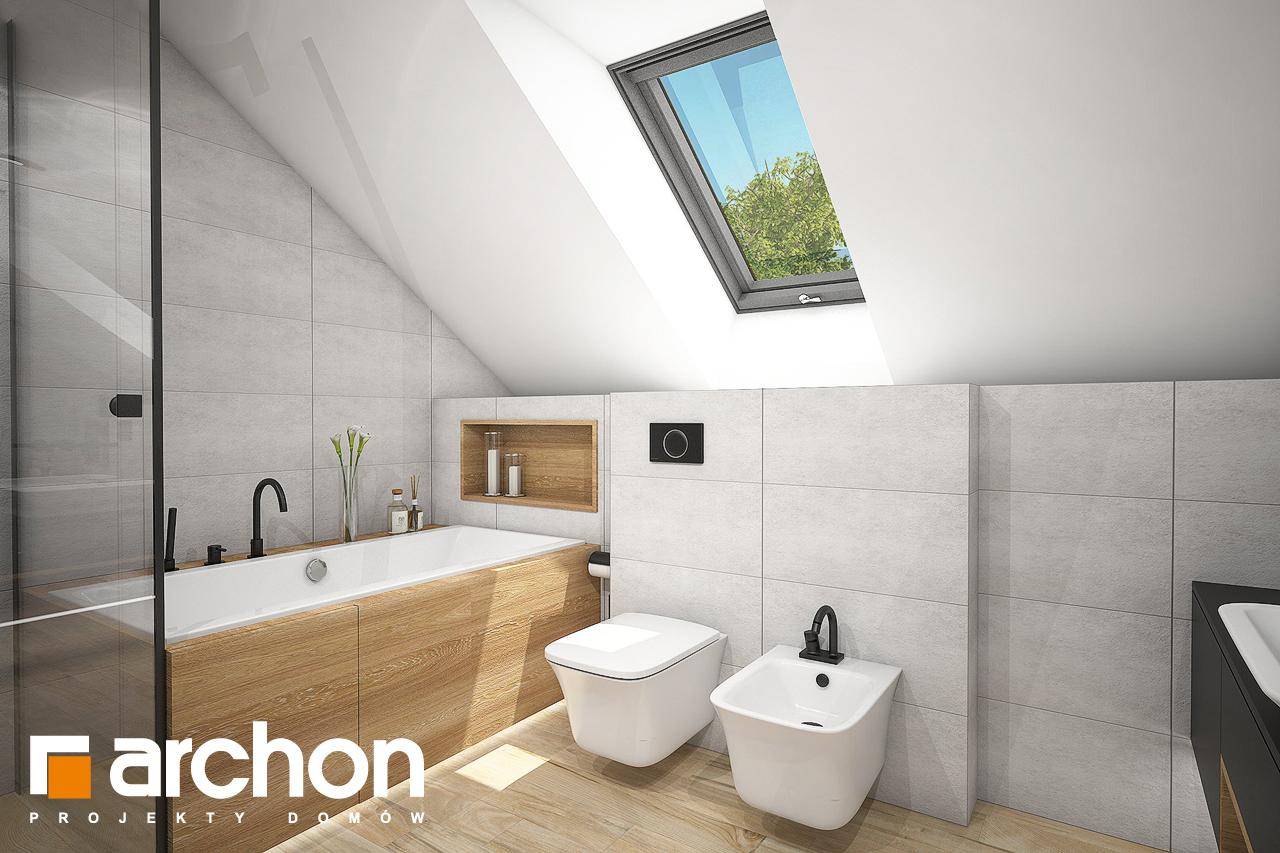 Проект будинку ARCHON+ Будинок в аурорах 7 (Г2) візуалізація ванни (візуалізація 3 від 1)