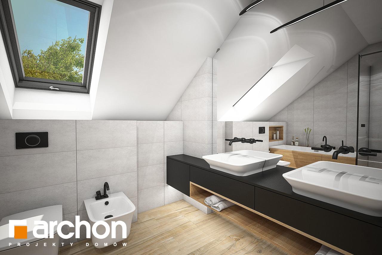 Проект будинку ARCHON+ Будинок в аурорах 7 (Г2) візуалізація ванни (візуалізація 3 від 2)