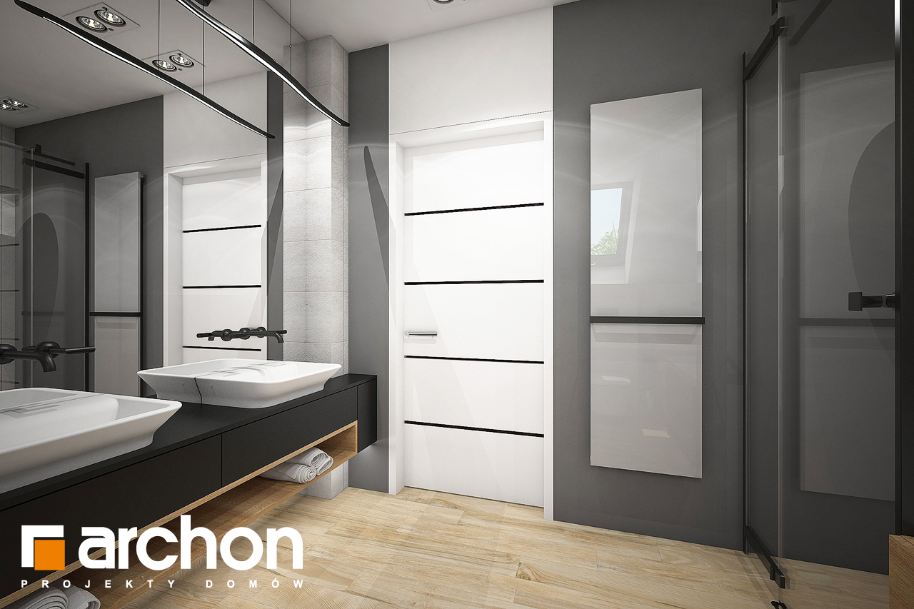 Проект будинку ARCHON+ Будинок в аурорах 7 (Г2) візуалізація ванни (візуалізація 3 від 3)