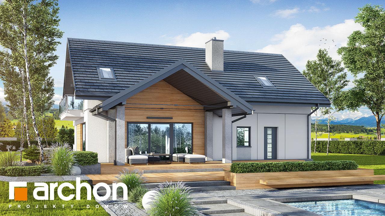 Проект будинку ARCHON+ Будинок в аурорах 7 (Г2) Вид 2