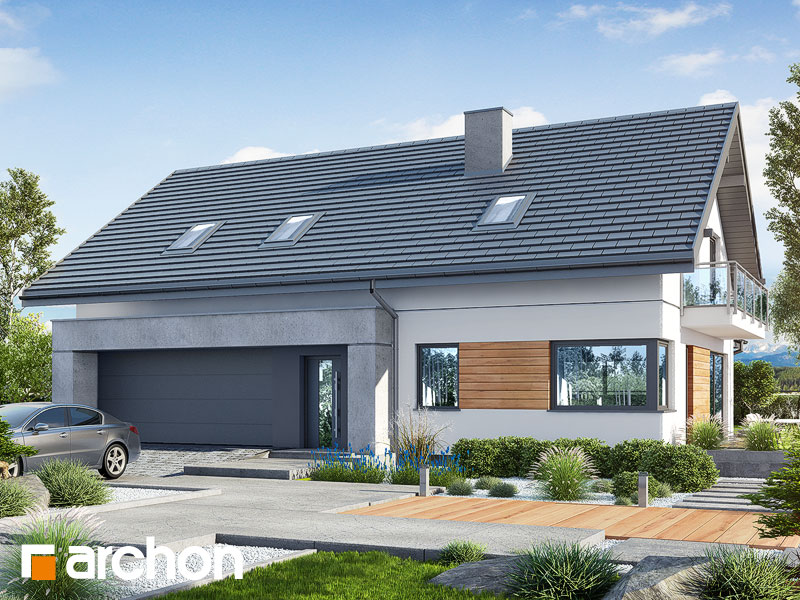Проект будинку ARCHON+ Будинок в аурорах 7 (Г2) Вид 1