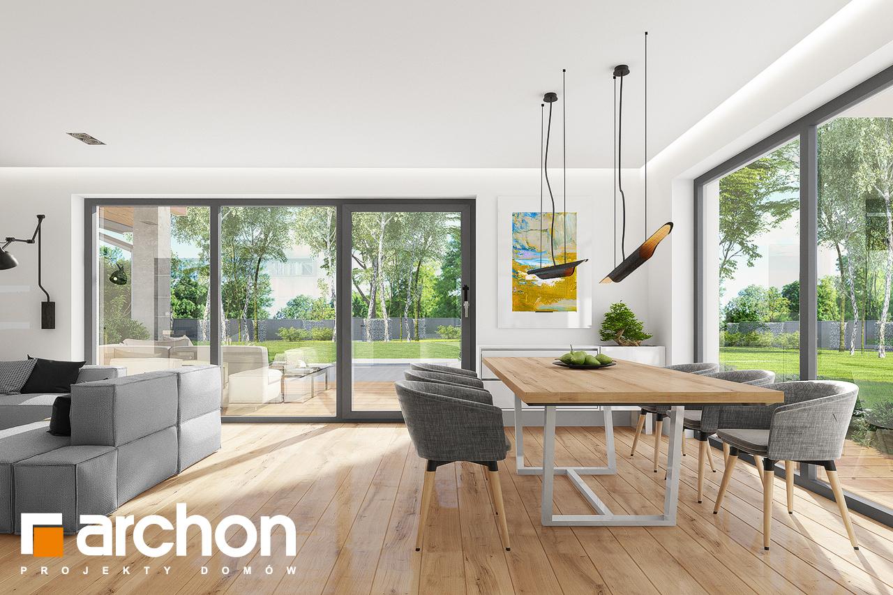 Проект будинку ARCHON+ Будинок в аурорах 7 (Г2) денна зона (візуалізація 1 від 3)