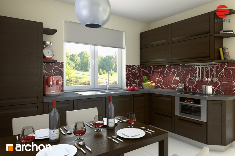 Проект будинку ARCHON+ Будинок під червоною горобиною (Г2) аранжування кухні 1 від 2