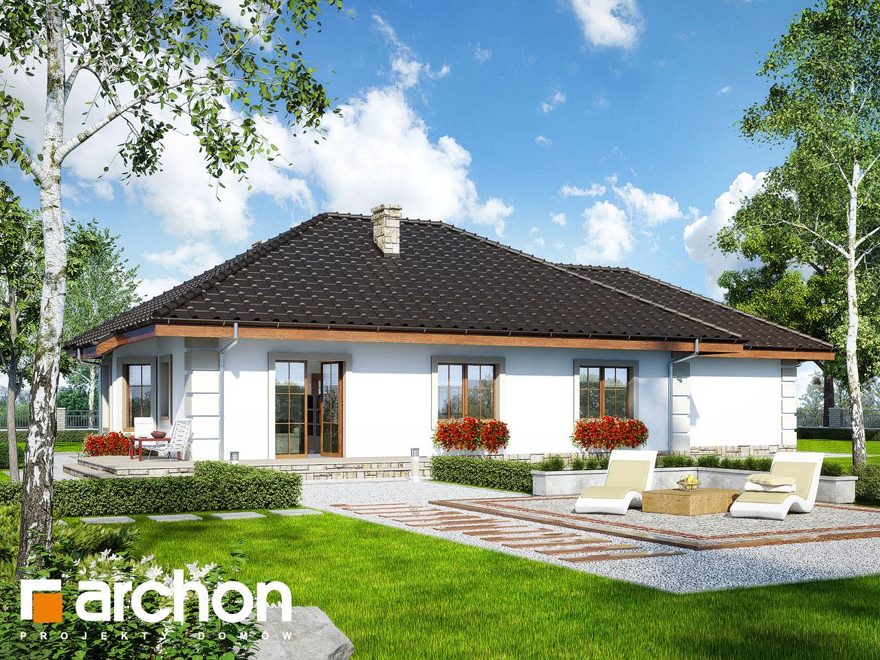Проект будинку ARCHON+ Будинок під червоною горобиною (Г2) вер.2 Вид 2