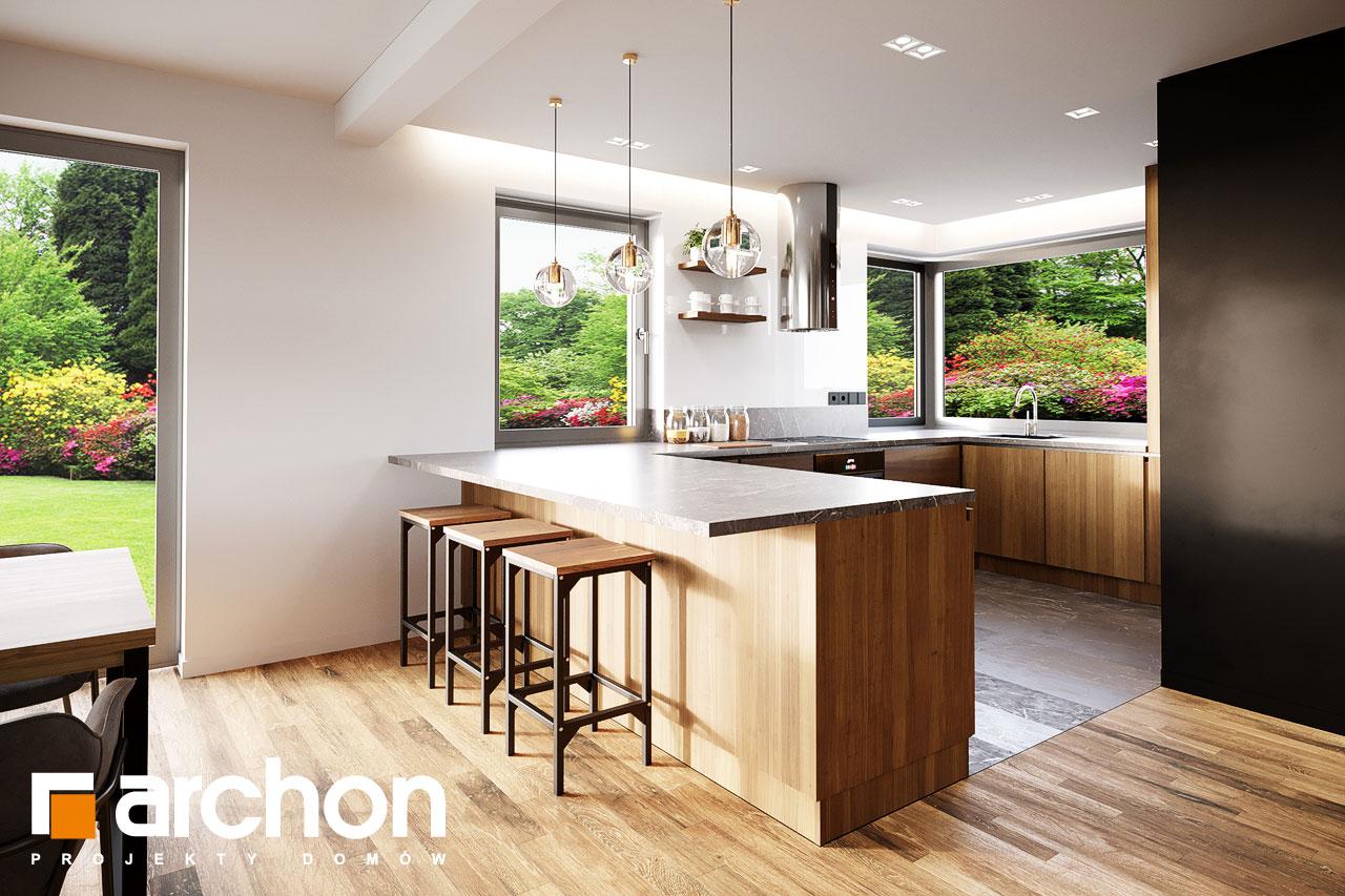 Проект будинку ARCHON+ Будинок в аурорах 15 (Г) візуалізація кухні 1 від 1