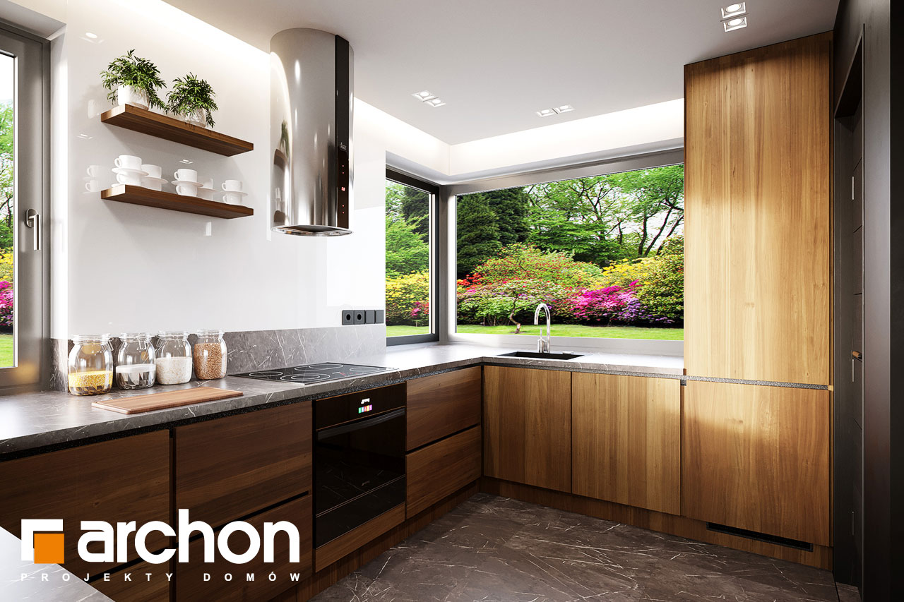 Проект будинку ARCHON+ Будинок в аурорах 15 (Г) візуалізація кухні 1 від 2