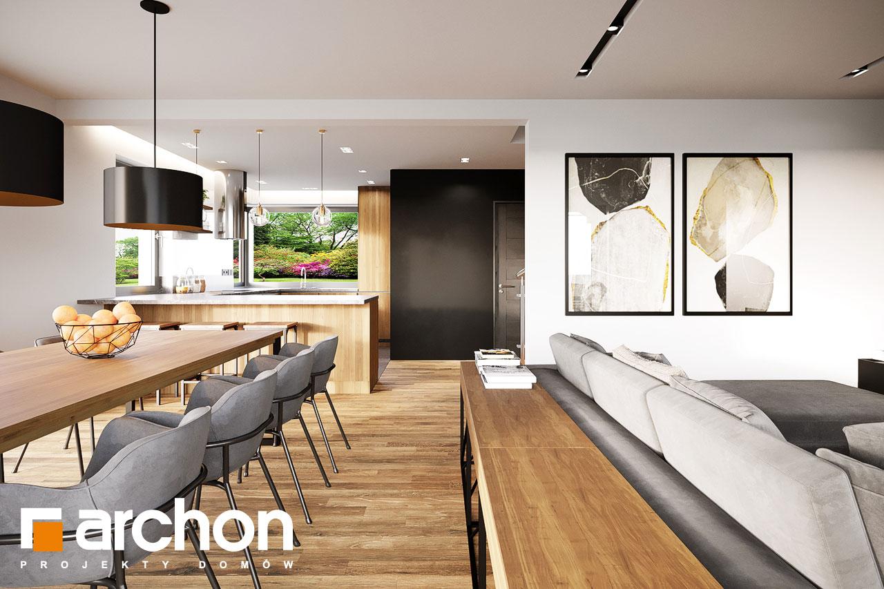 Проект будинку ARCHON+ Будинок в аурорах 15 (Г) денна зона (візуалізація 1 від 6)