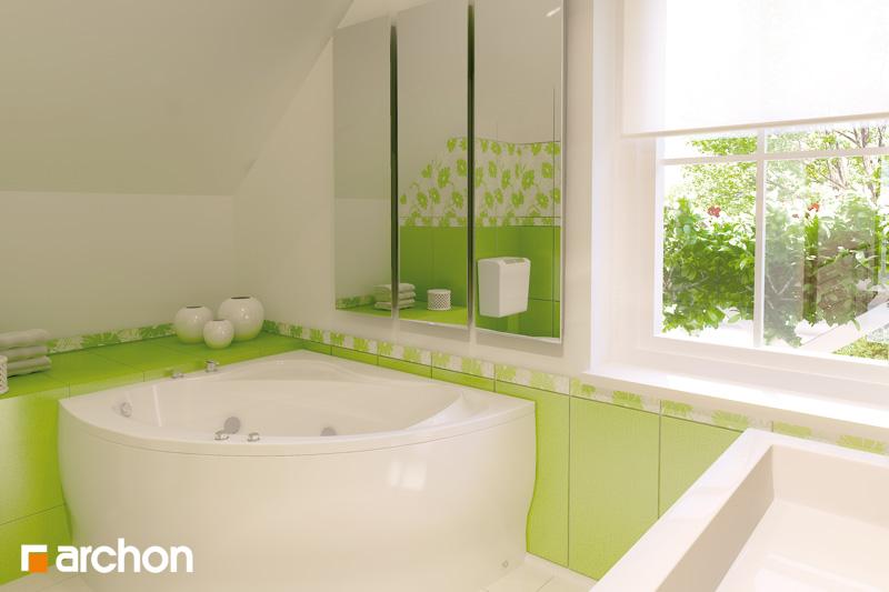 Проект будинку ARCHON+ Будинок в рододендронах вер.2 візуалізація ванни (візуалізація 3 від 1)