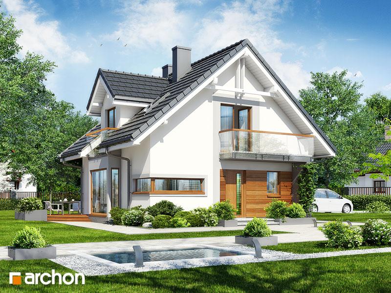 Проект будинку ARCHON+ Будинок в рододендронах вер.2 стилізація 3