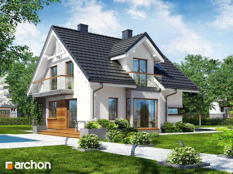 Проект будинку ARCHON+ Будинок в рододендронах вер.2 стилізація 4