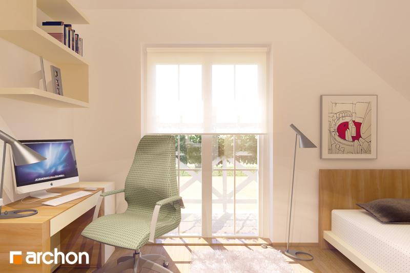 Проект будинку ARCHON+ Будинок в рододендронах вер.2 нічна зона (візуалізація 1 від 2)