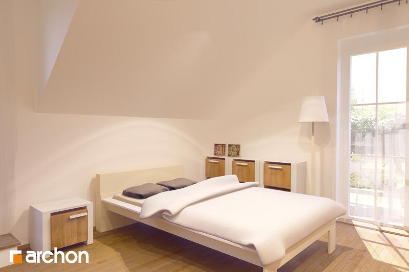 Проект будинку ARCHON+ Будинок в рододендронах вер.2 нічна зона (візуалізація 1 від 1)