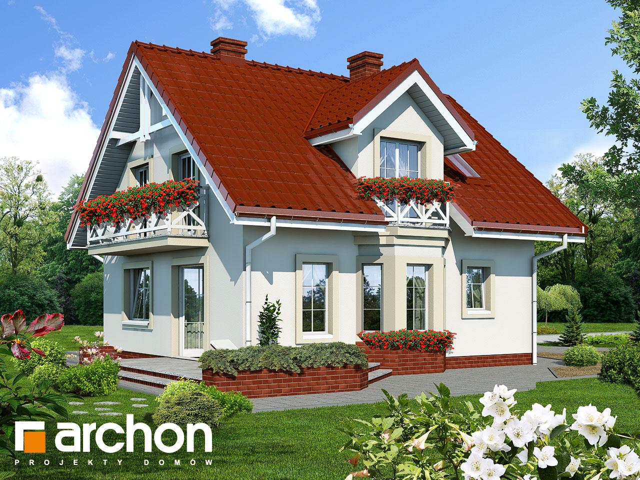 Проект будинку ARCHON+ Будинок в рододендронах вер.2 Вид 2