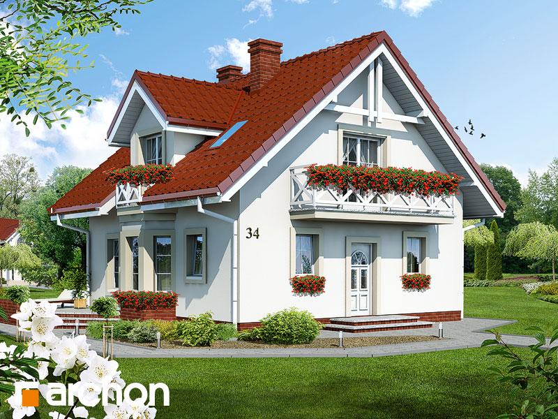 Проект будинку ARCHON+ Будинок в рододендронах вер.2 Вид 1