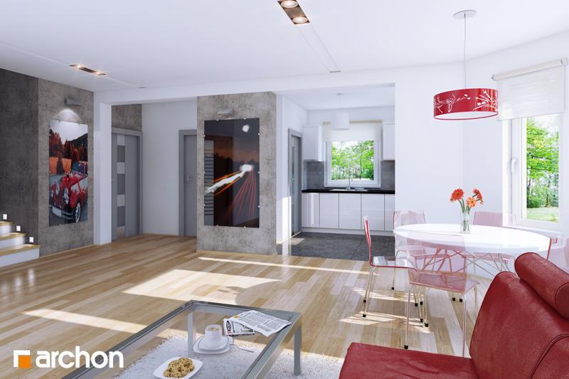 Проект будинку ARCHON+ Будинок в рододендронах вер.2 денна зона (візуалізація 1 від 1)