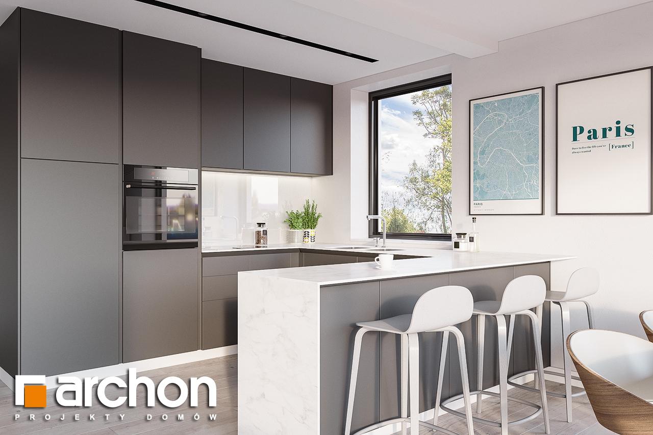 Проект будинку ARCHON+ Будинок в сон-траві 4 візуалізація кухні 1 від 1