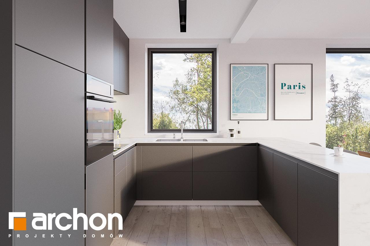 Проект будинку ARCHON+ Будинок в сон-траві 4 візуалізація кухні 1 від 2