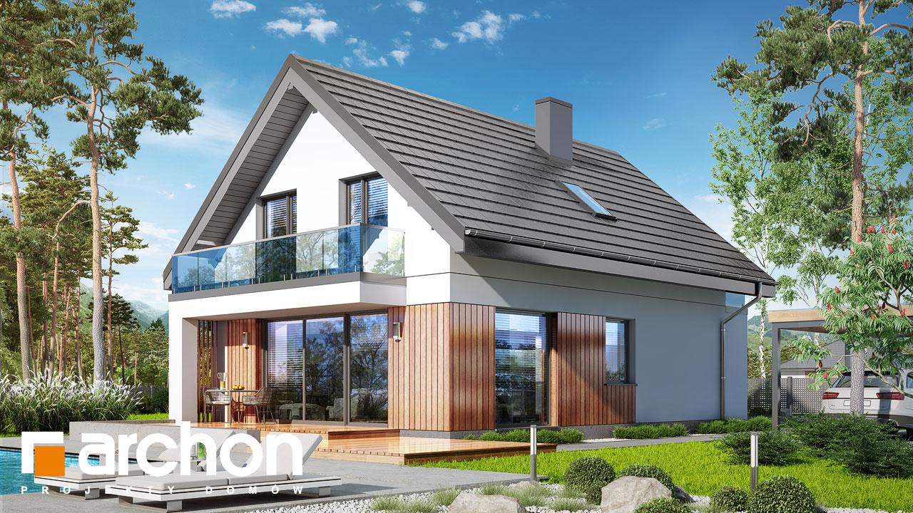 Проект будинку ARCHON+ Будинок в сон-траві 4 Вид 2