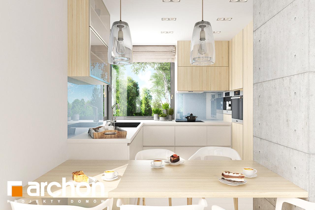 Проект будинку ARCHON+ Будинок в мирті 5 візуалізація кухні 1 від 1