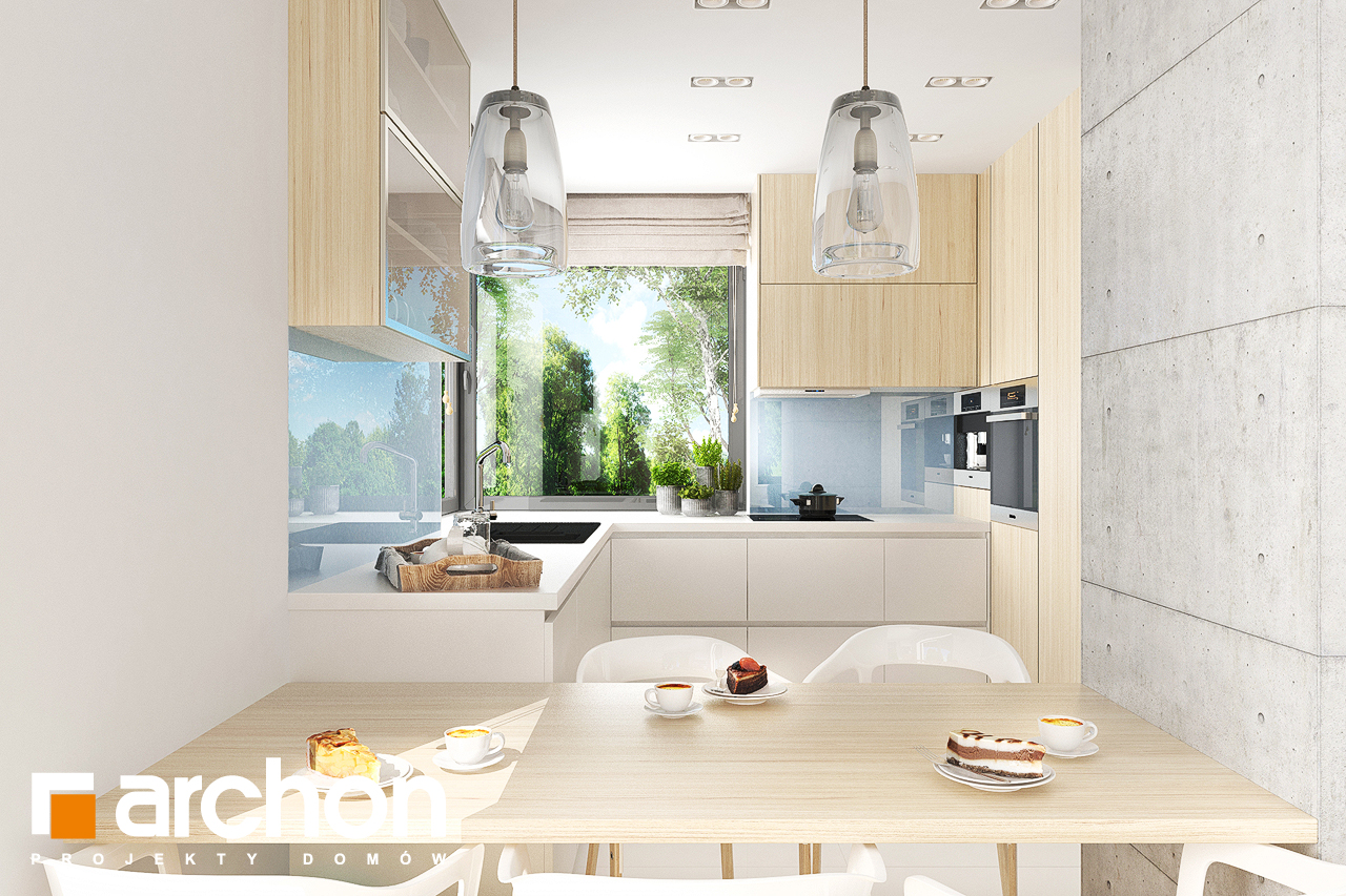 Проект дома ARCHON+ Дом в мирте 5 визуализация кухни 1 вид 1