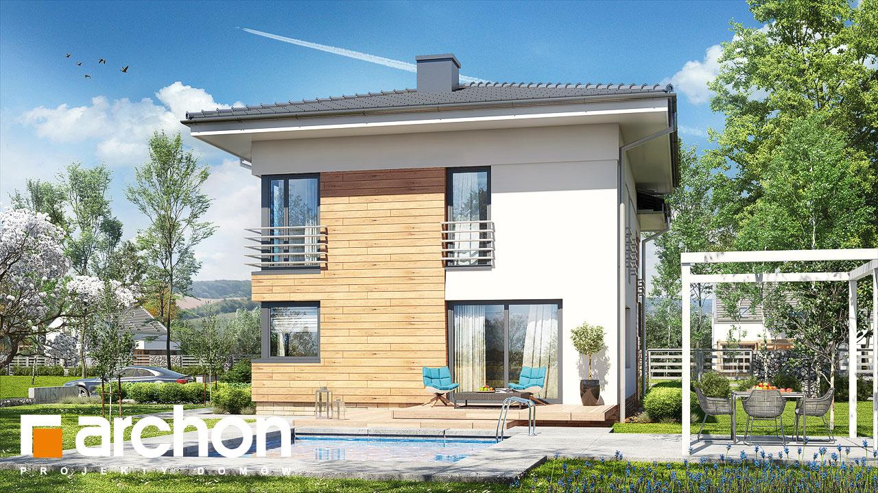 Проект будинку ARCHON+ Будинок в мирті 5 Вид 2