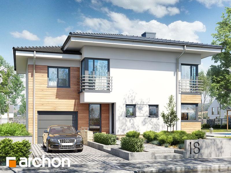Проект будинку ARCHON+ Будинок в мирті 5 Вид 1