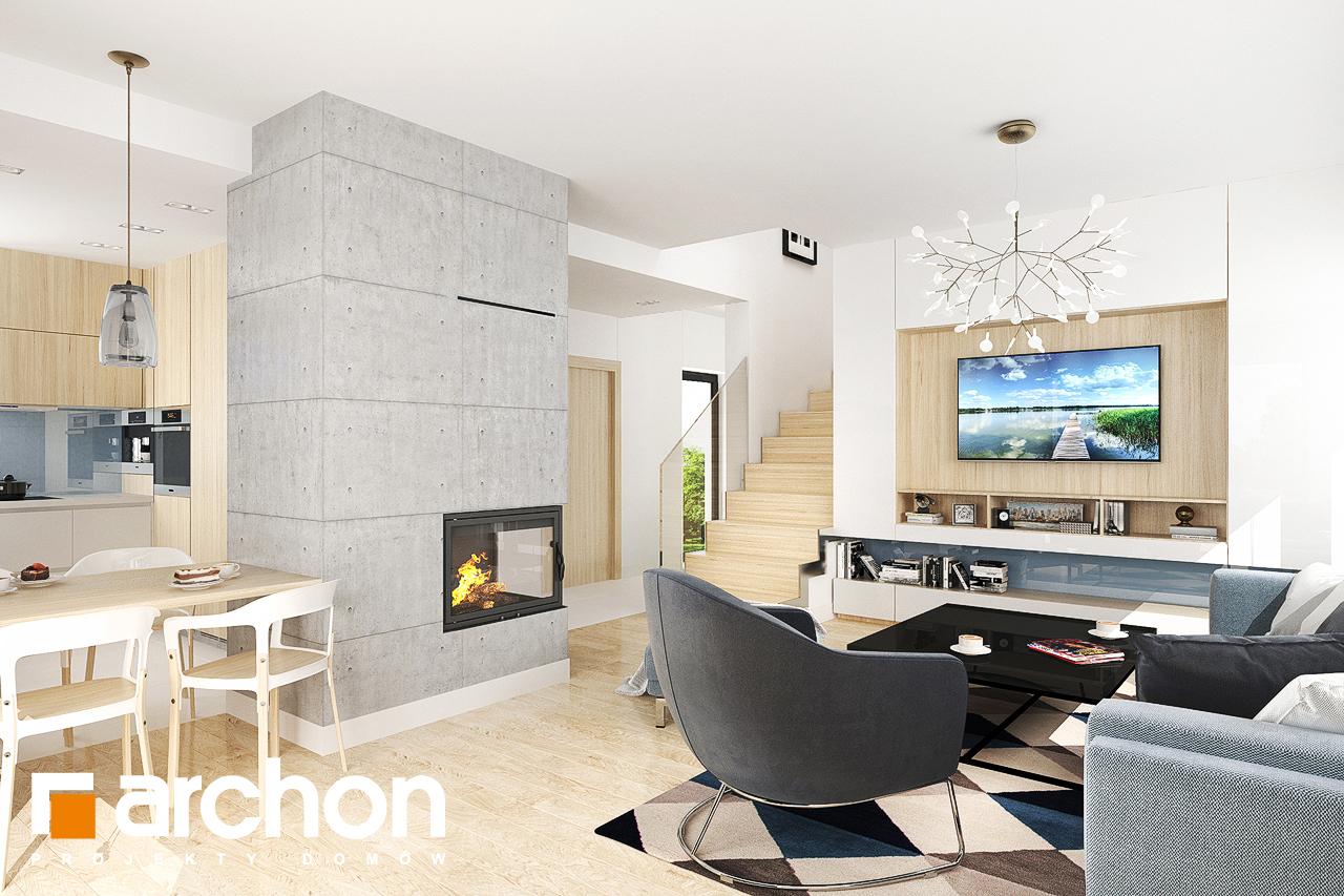 Проект дома ARCHON+ Дом в мирте 5 дневная зона (визуализация 1 вид 2)